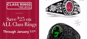 Save $25 on class rings!