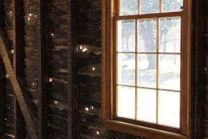 Bullet holes in the wall of the Carter House farm office_preview