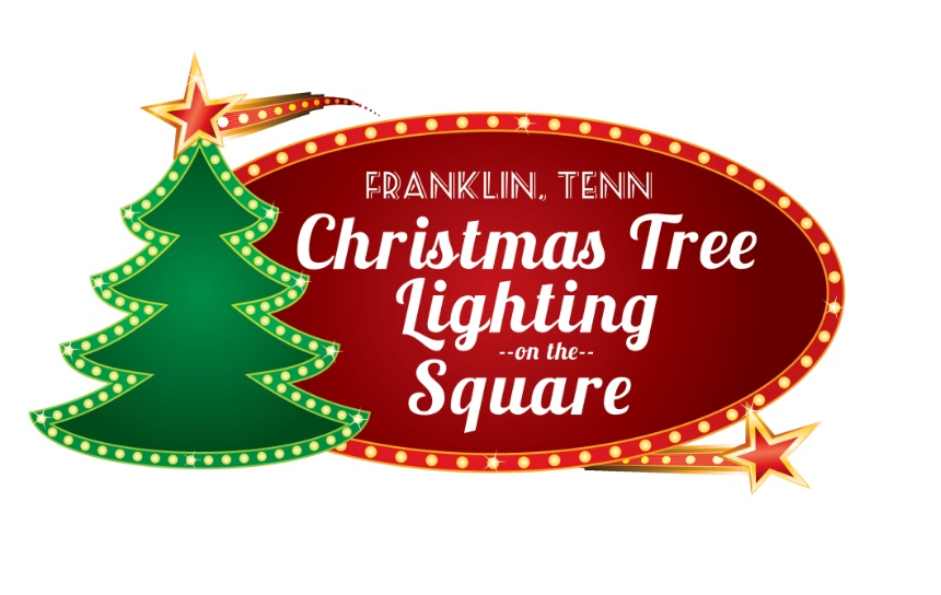 Christmas tree lighting on the square in Downtown Franklin, TN, downtown Franklin events and things to do!