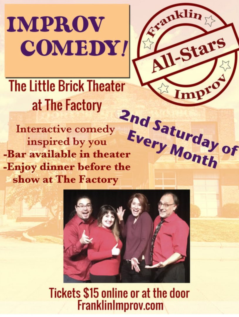 Improv All Stars comedy shows in downtown Franklin, TN, shows and entertainment in Franklin, Tennessee.