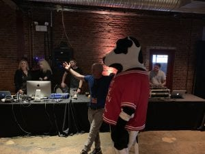 Chick-fil-A cow at The 2019 Sizzle Awards Gala, celebrating the best businesses in Williamson County, TN, the event was held at The Factory at Franklin.