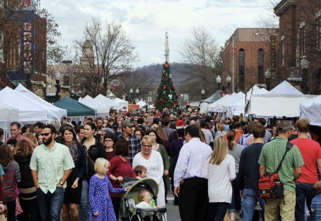 Historic downtown Franklin, Tennessee event, Dickens of a Christmas, family activities, kids events, shopping, live entertainment and more!