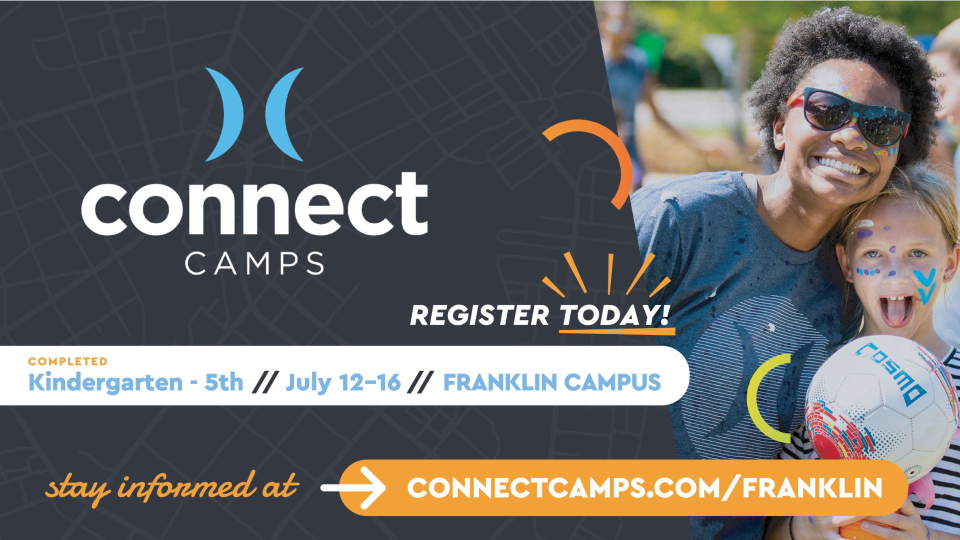 Connect Camps, day camps for children in Franklin, TN, kids activities, filled with non-stop fun, engaging activities, daily faith-based lessons, and the chance to make lasting friendships.