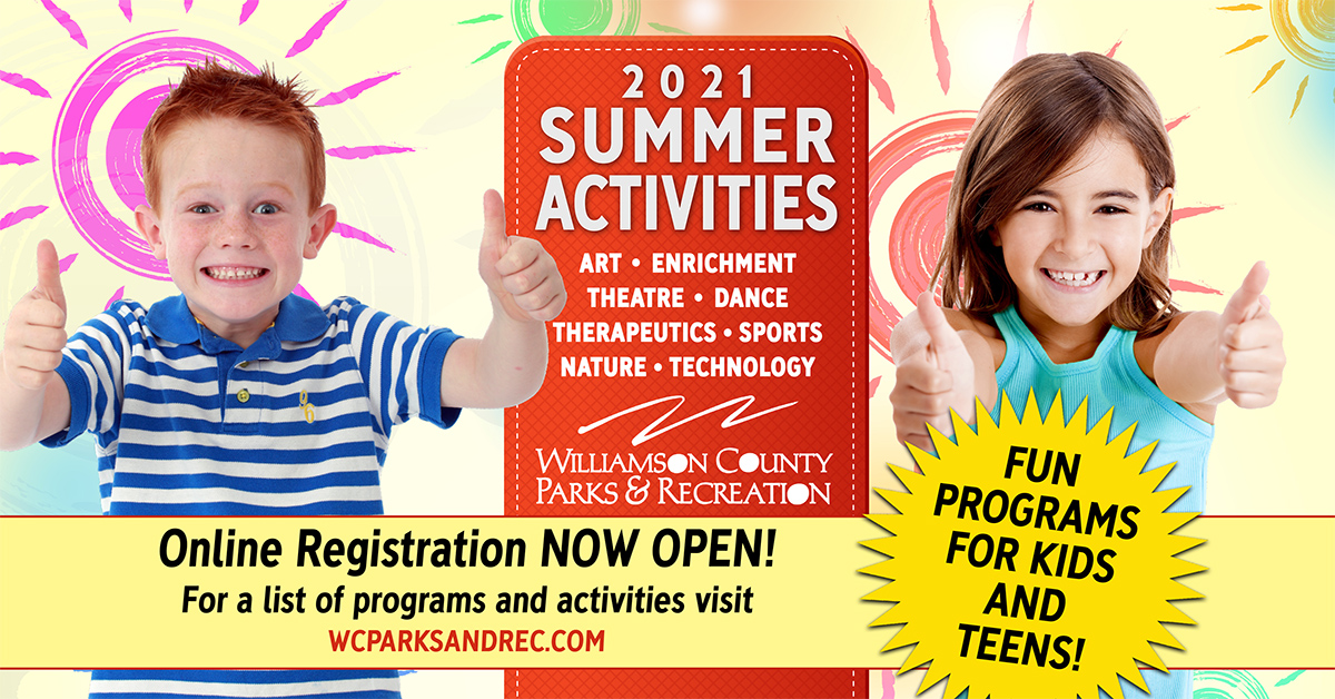 Summer activities for kids and teens in Franklin, TN, Brentwood, TN and throughout Williamson County, TN at the WCPR Dept!