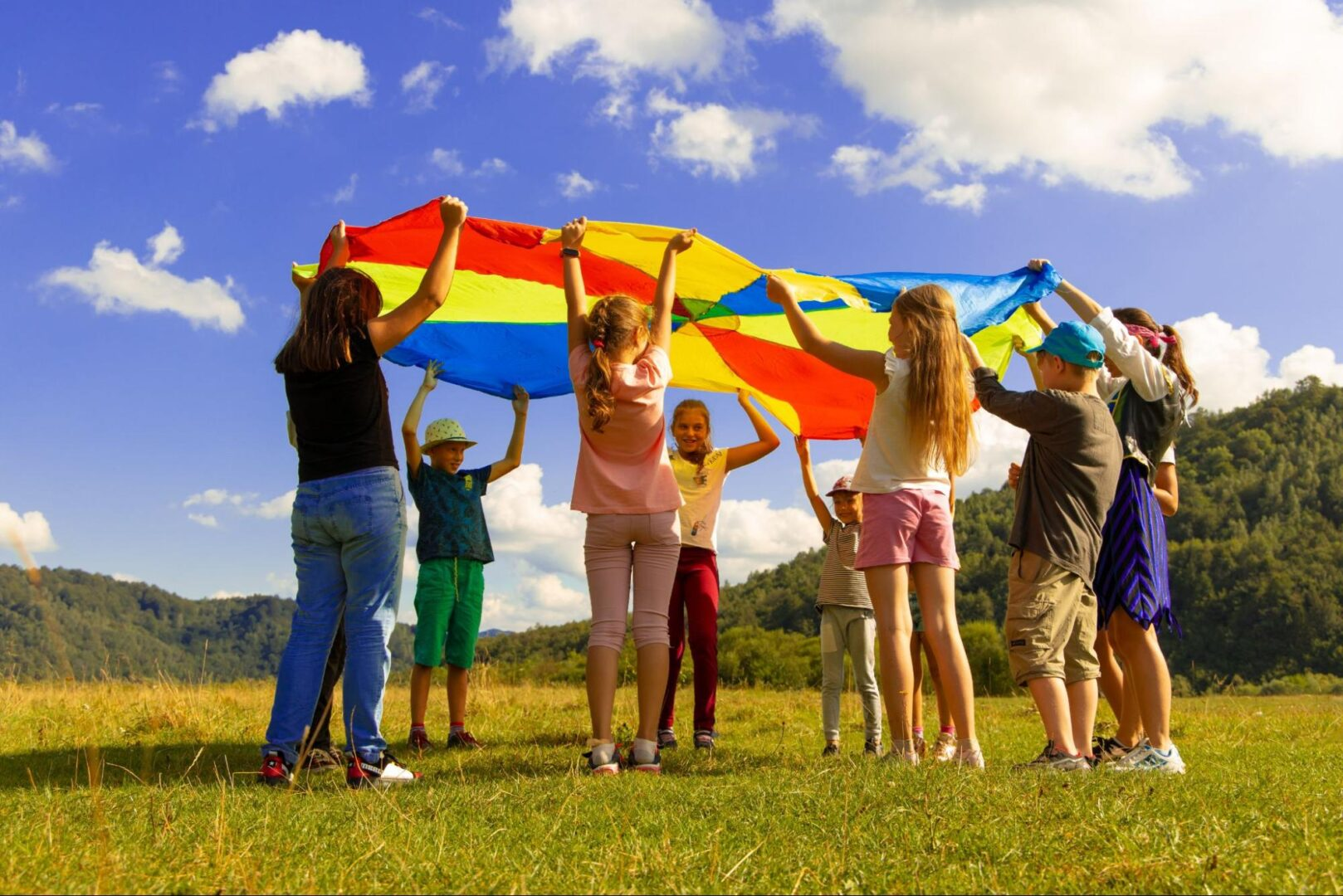 Kids playing, find summer camps in Franklin, TN on FranklinIs, kids activities and events, fun for all ages!