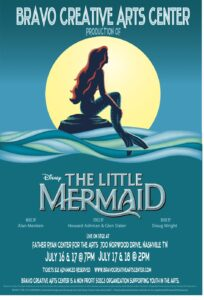 Ariel, Franklin's Bravo Creative Arts Center, Disney's The Little Mermaid performances in Nashville, TN.