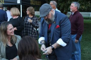 Card trick performed at the Franklin, TN event Bootlegger's Bash which featured live entertainment, Southern cuisine and local spirits.
