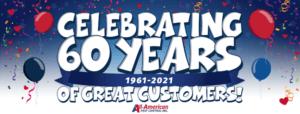 All-American Pest Control 60 Year Logo