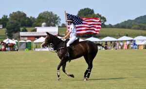 American Flag Rider Franklin TN Chukkers for Charity