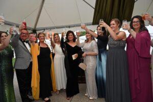 Bari Beasley and Heritage Foundation staff toast