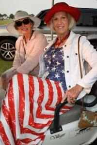 Gwyneth Kerr and Jeri Housley at Franklin, TN event, Chukkers for Charity.