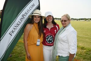 Hannah Dudney, Crispin Menefee and Marianne Byrd at Franklin, TN event, Chukkers for Charity.