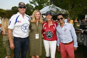 James Armstrong, Libby Sieveking, Lexi Armstrong and Matt Paco at Chukkers for Charity event in Franklin, Tennessee.
