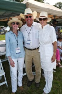 Kathy Follin, Robert Lipman and Stefanie Latham at Chukkers for Charity event in Franklin, TN.