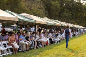Row of VIP Patron Tents at Chukkers for Charity event in Franklin, Tennessee.