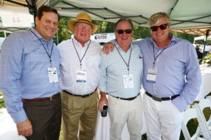 Tom Schlesinger, Hill McAlister, Michael Lindley and Richard Perry at Chukkers for Charity in Franklin, TN.